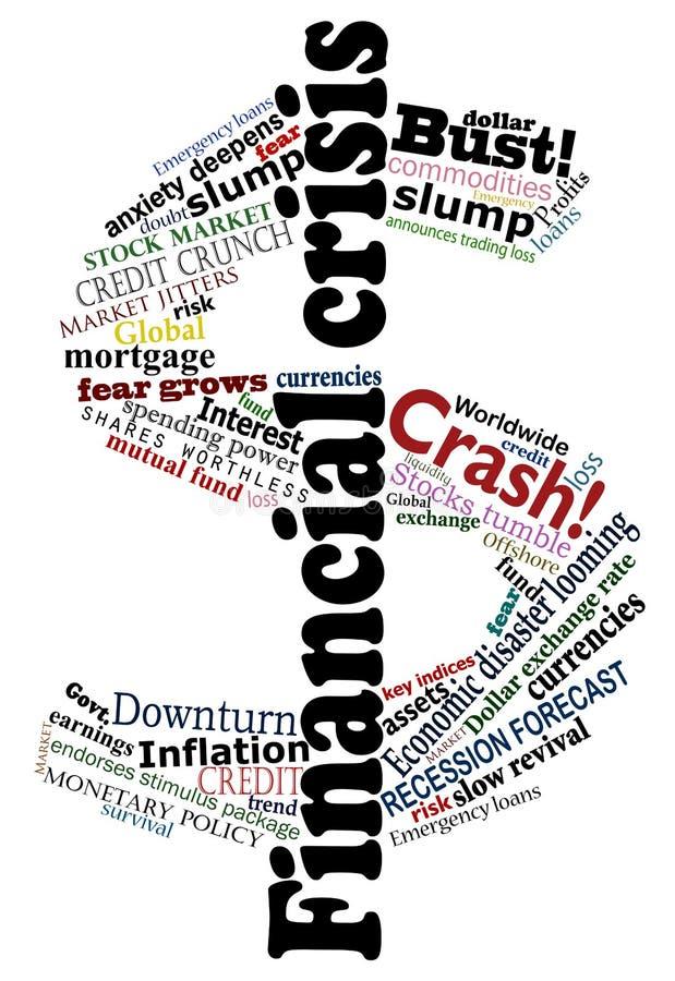 Dólar de la crisis ilustración del vector