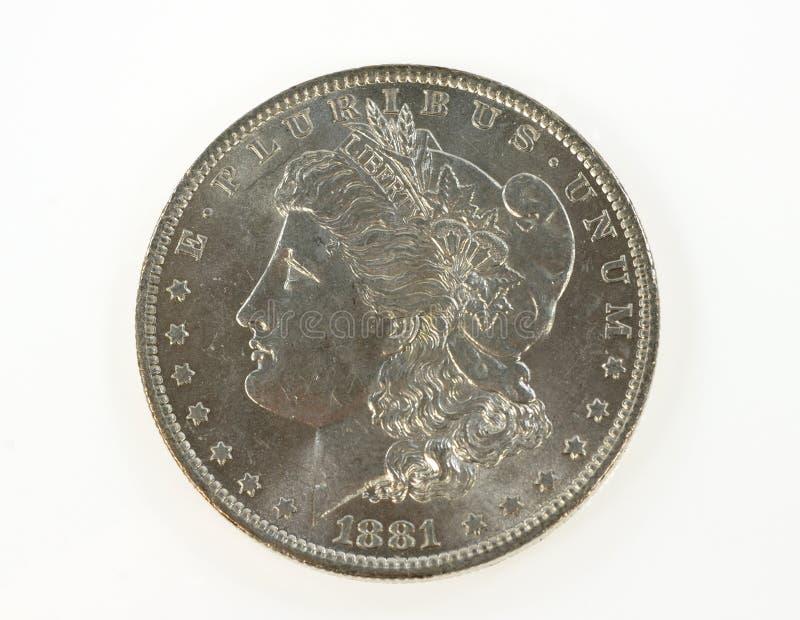 Dólar de Morgan imagenes de archivo