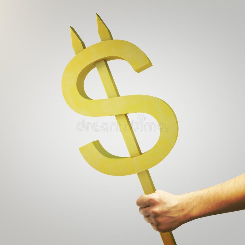 Dólar de oro stock de ilustración