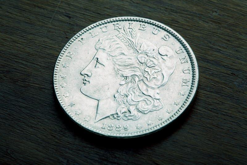 Dólar de plata de Morgan foto de archivo libre de regalías