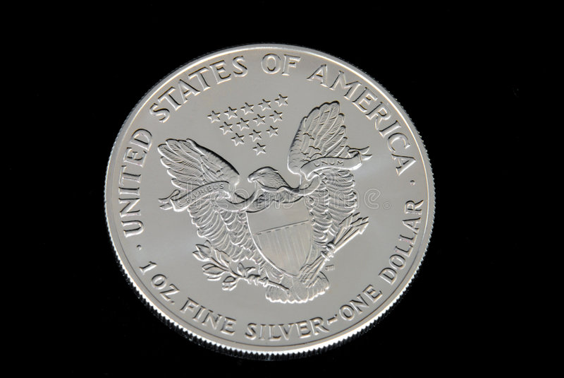 Dólar de prata dos E.U. fotografia de stock royalty free