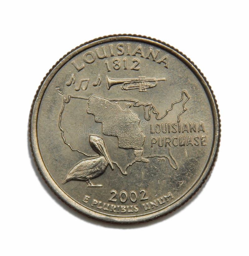 Dólar de um quarto dos E.U. Louisiana fotografia de stock
