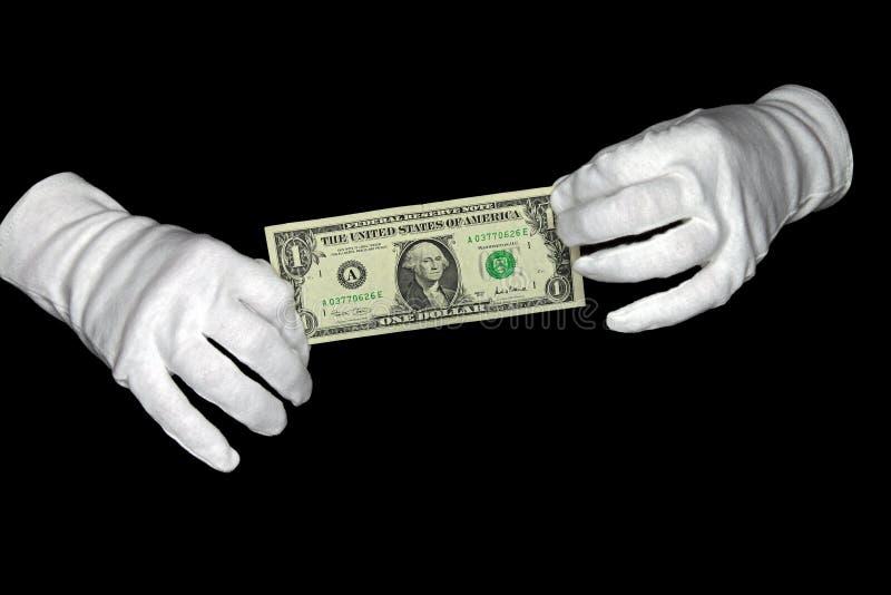 Dólar del asimiento de las manos foto de archivo libre de regalías
