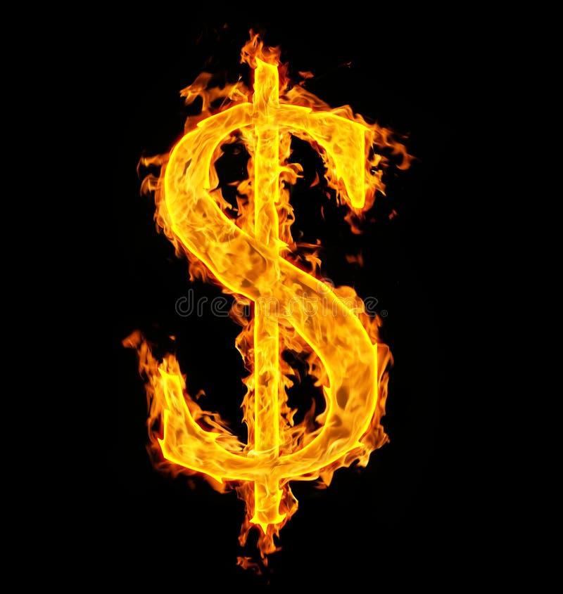 Dólar del fuego imagenes de archivo