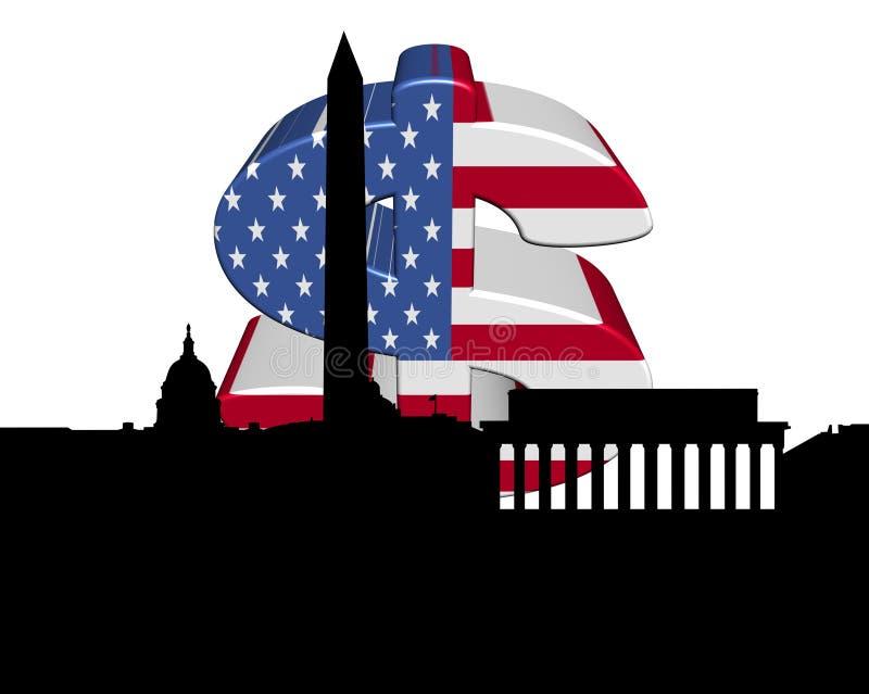 Dólar del indicador americano del Washington DC libre illustration