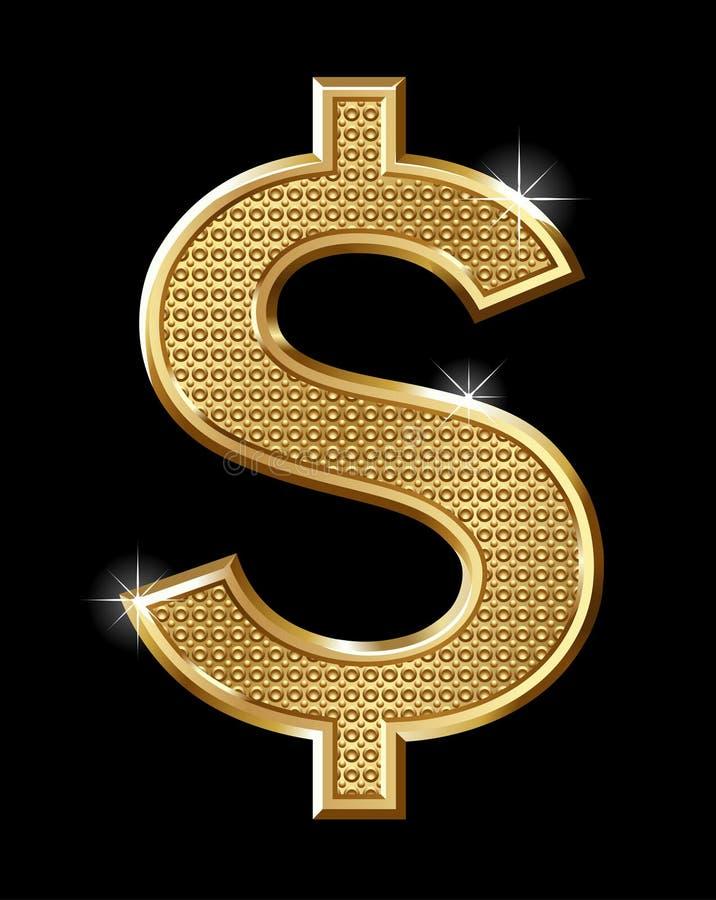Dólar del oro stock de ilustración