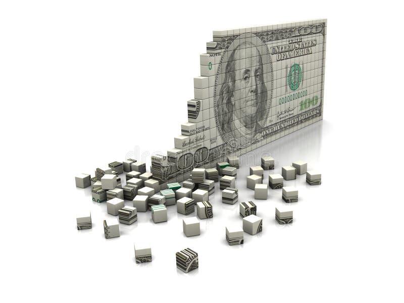 Dólar del rompecabezas stock de ilustración