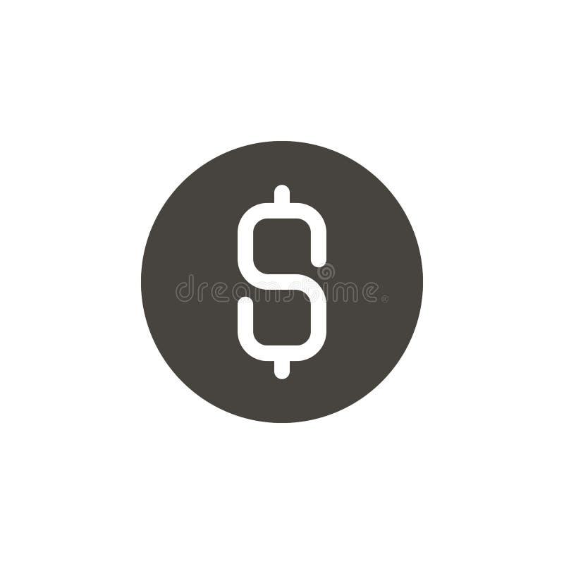 Dólar, dinheiro, ícone do vetor da moeda Elemento simples illustrationDollar, dinheiro, ícone do vetor da moeda Ilustra??o materi ilustração do vetor