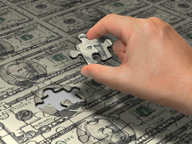 Dólar do enigma fotografia de stock royalty free