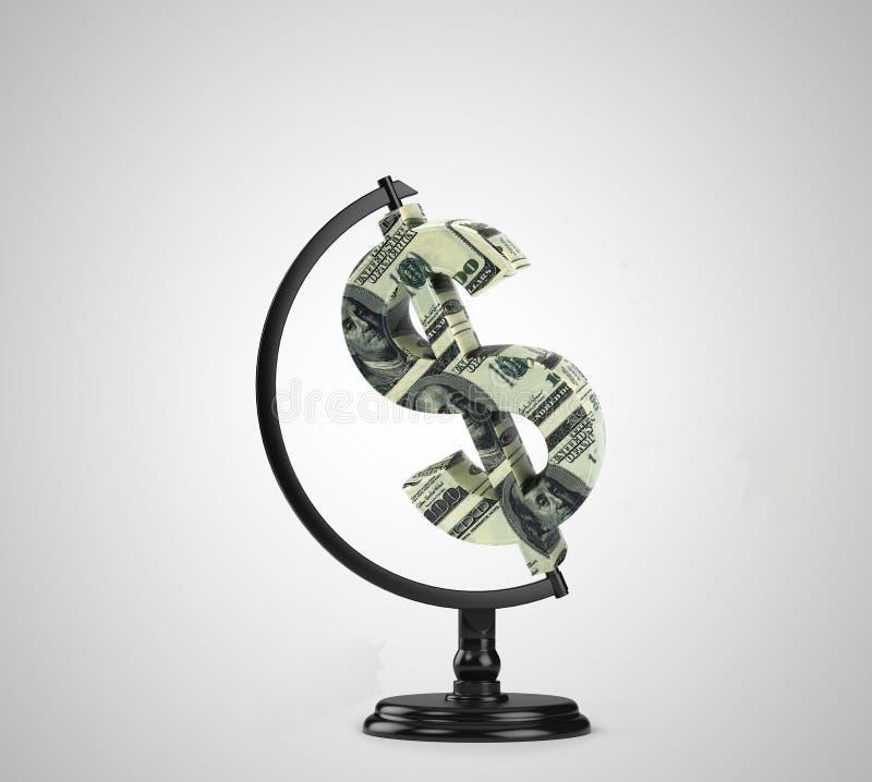 Dólar do globo fotos de stock