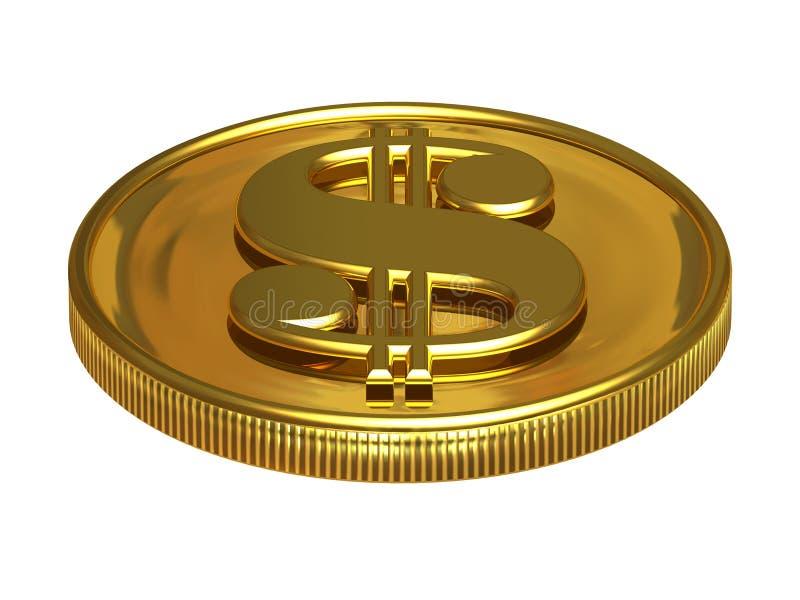 Dólar do ouro ilustração do vetor