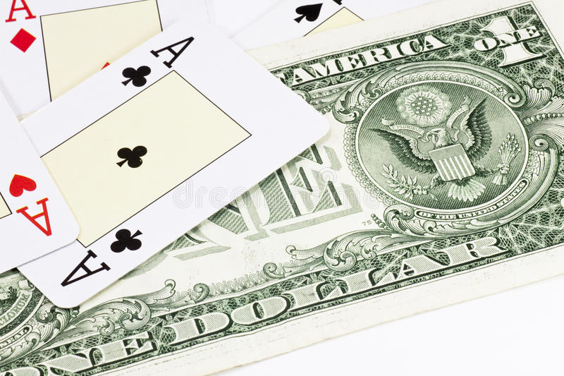 Dólar do póquer fotos de stock