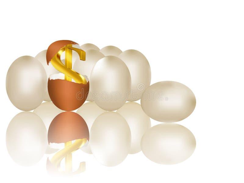 Download Dólar dourado ilustração stock. Ilustração de prosperidade - 12800852