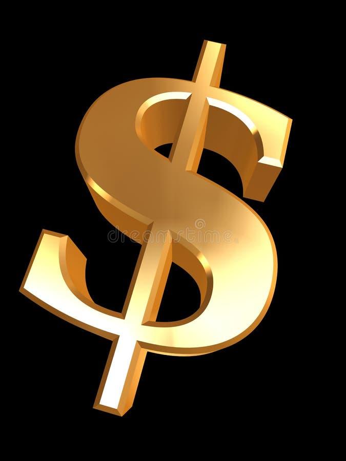 Dólar dourado ilustração stock