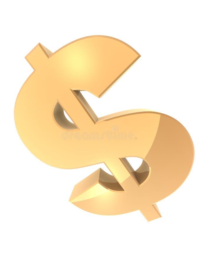 Dólar dourado ilustração royalty free