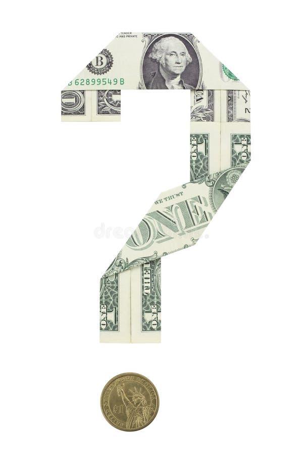 Dólar en la pregunta foto de archivo