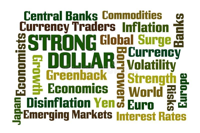 Dólar forte ilustração royalty free