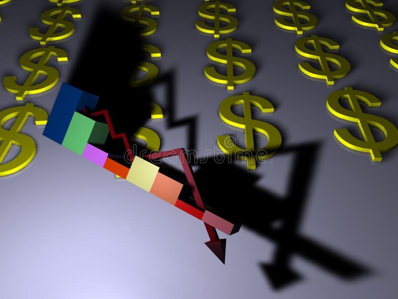 Dólar fraco ilustração do vetor