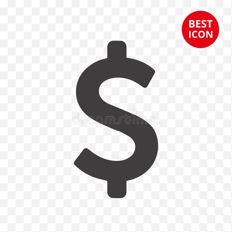 Dólar moderno del icono Dinero de ahorro del símbolo Concepto plano Relación y bolsa de acción financieras Para la web móvil del  libre illustration
