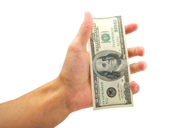 Dólar na palma imagens de stock royalty free