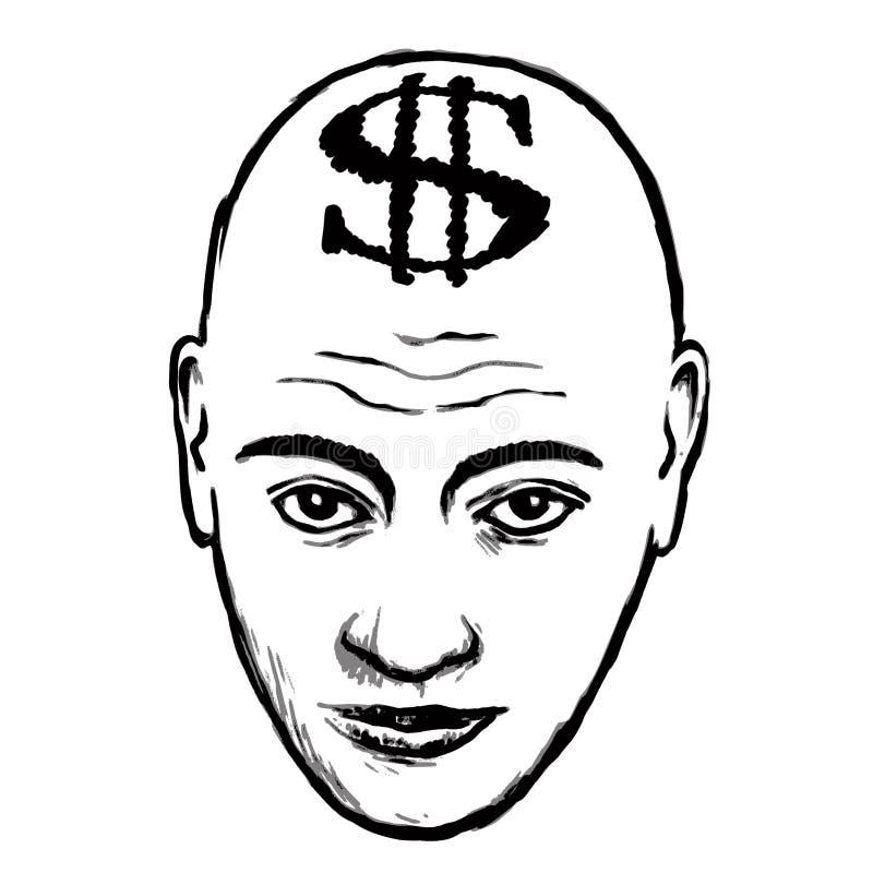 Dólar (vector) stock de ilustración