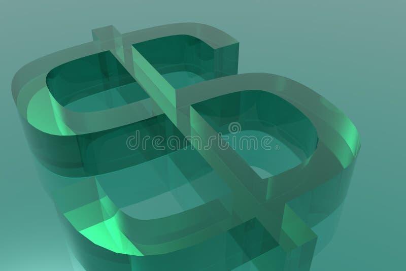 Dólar verde ilustración del vector