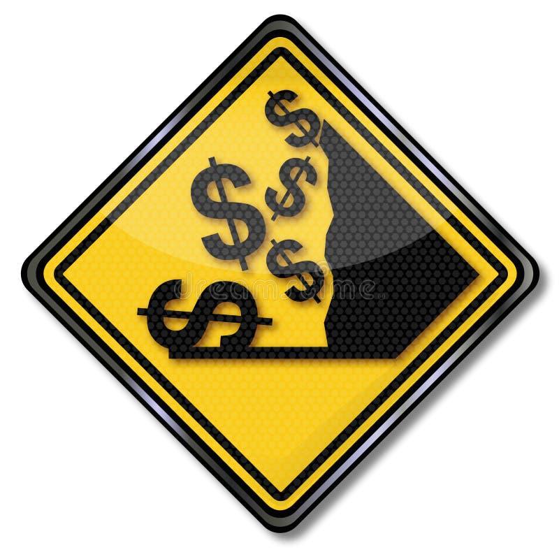 Dólar y desplome stock de ilustración