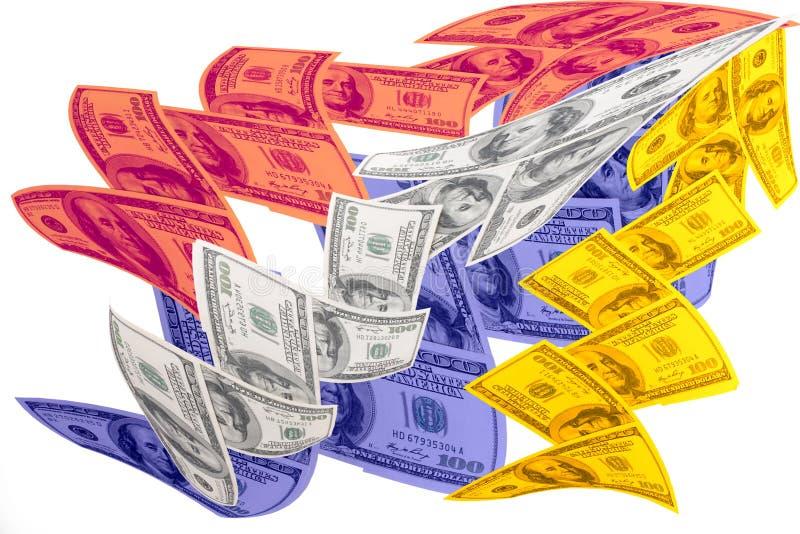 Dólares ilustração royalty free