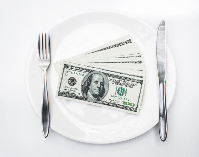 Dólares americanos americanos imagem de stock royalty free