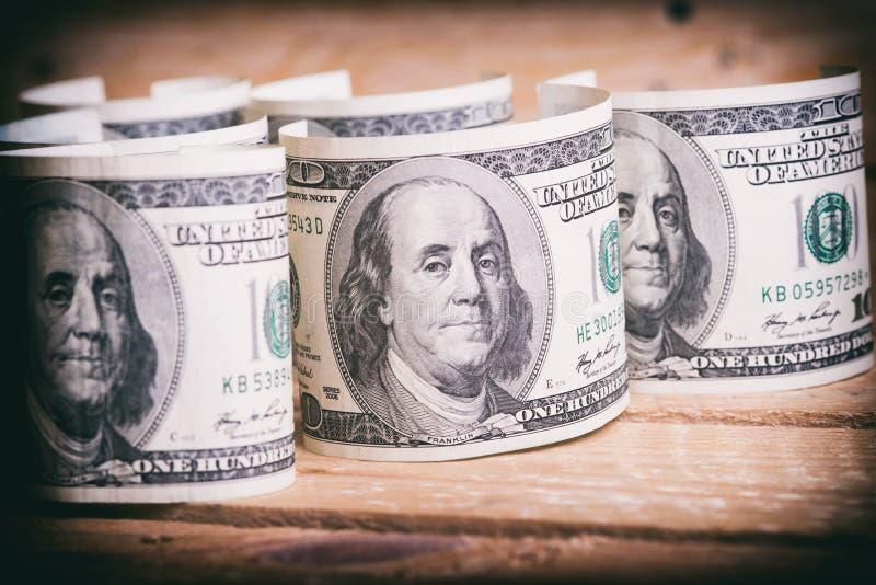 Dólares americanos da moeda fotos de stock royalty free
