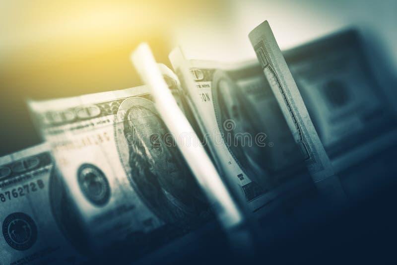 Dólares americanos de USD no foco foto de stock royalty free