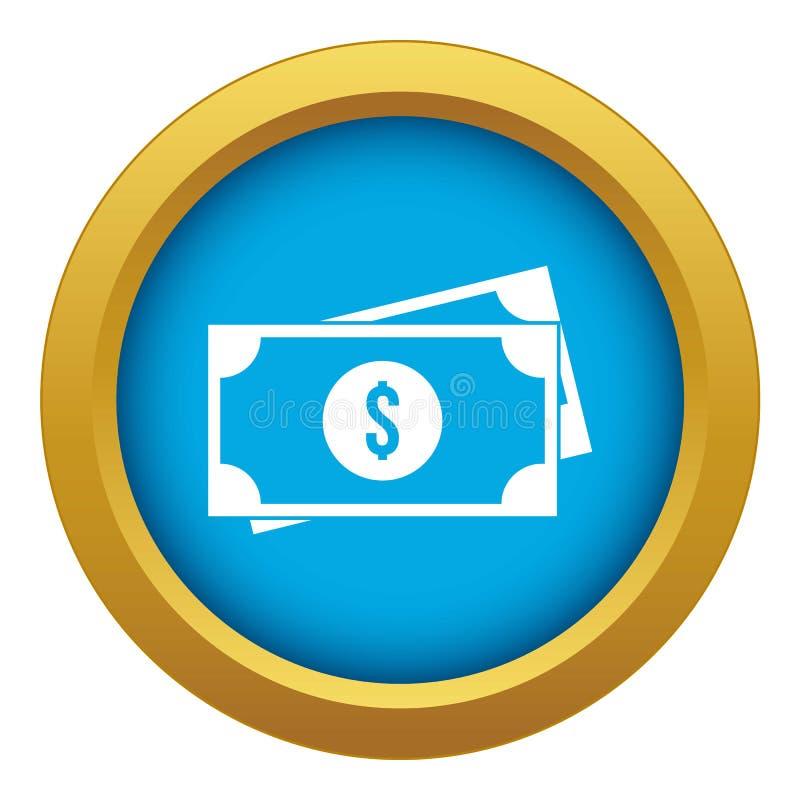 Dólares americanos do vetor azul do ícone isolado ilustração royalty free