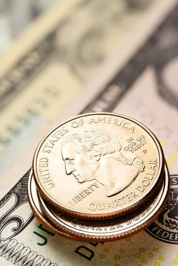 Download Dólares Americanos E Centavos Imagem de Stock - Imagem de mudança, tesouro: 80101363