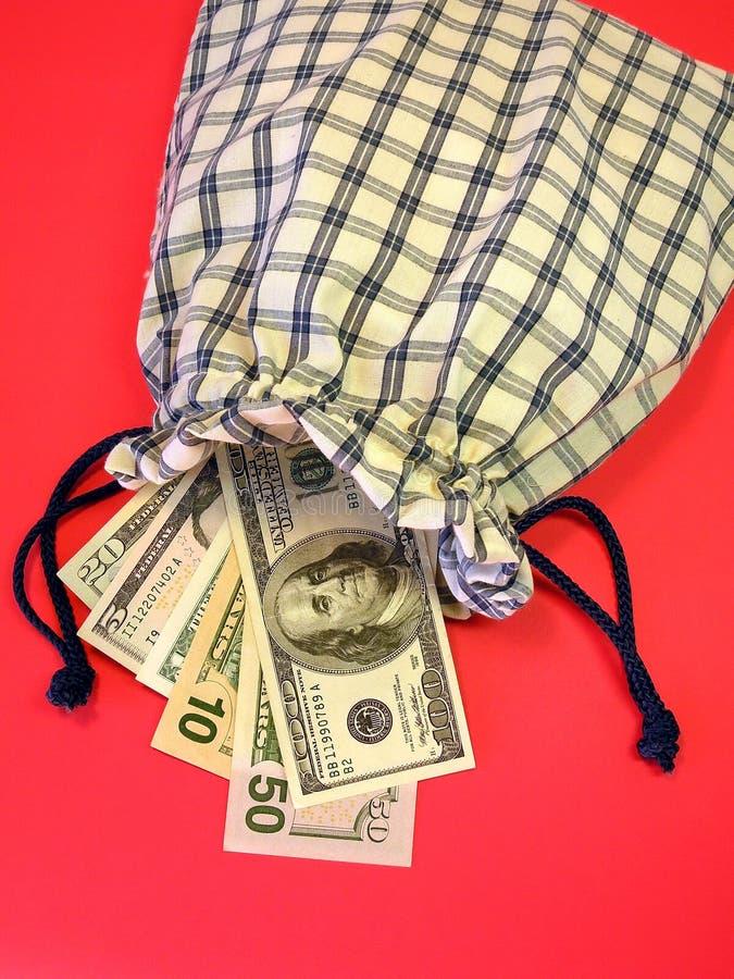 Dólares americanos no saco imagem de stock royalty free