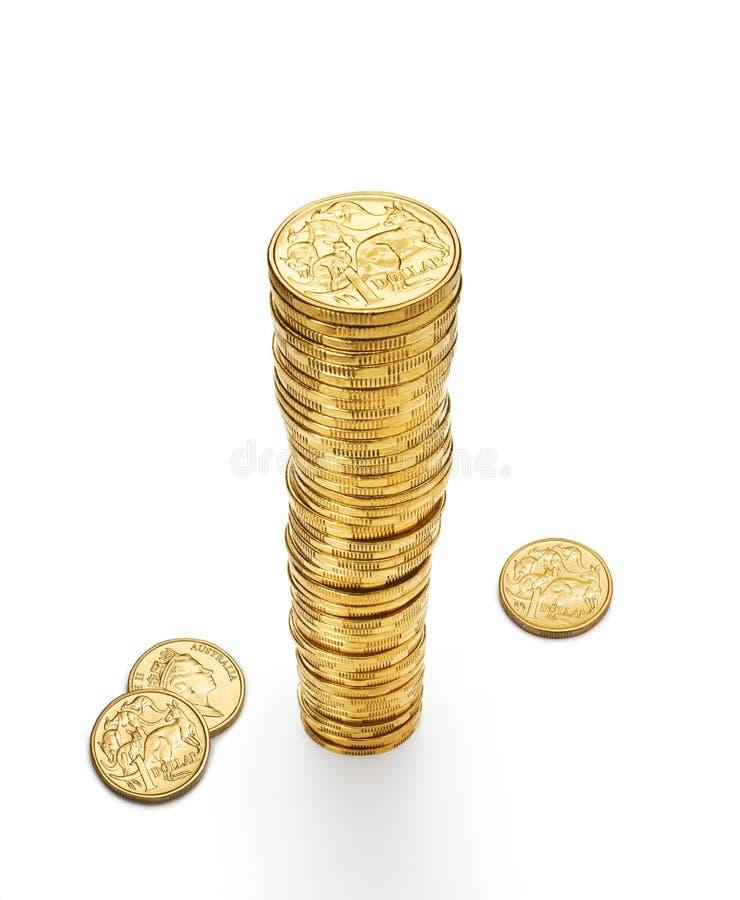 Dólares australianos da pilha foto de stock