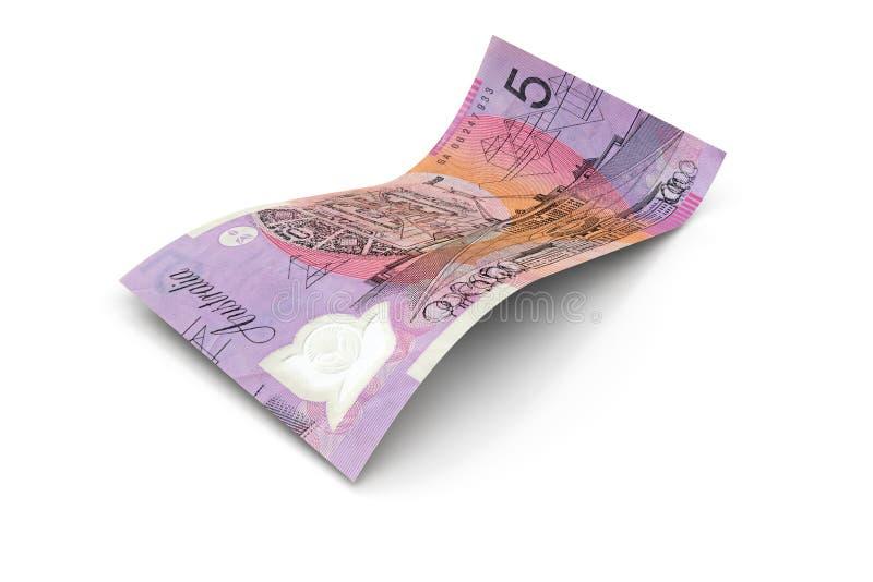 5 dólares australianos de nota imagens de stock royalty free