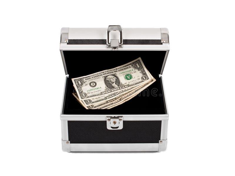 Dólares caso que imagem de stock