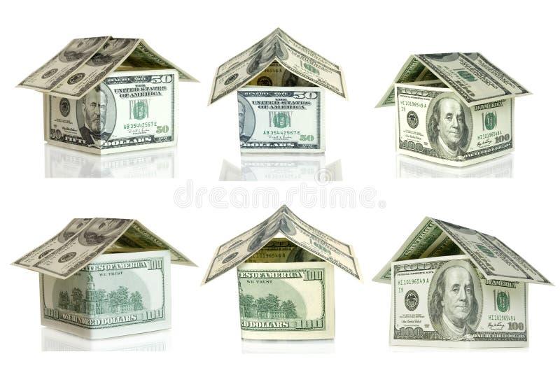 Dólares da casa foto de stock royalty free