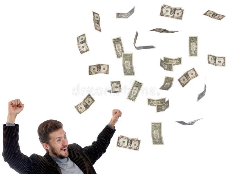 Dólares da chuva imagens de stock royalty free