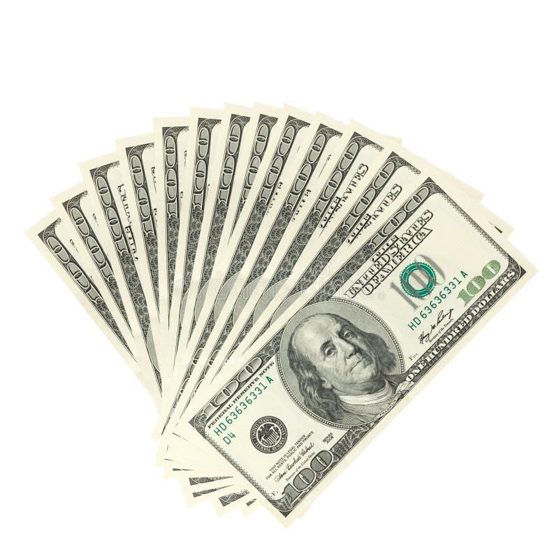 Dólares da propagação fotos de stock royalty free