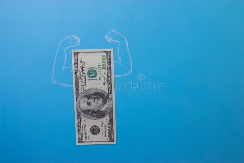 Dólares de conta com músculos foto de stock