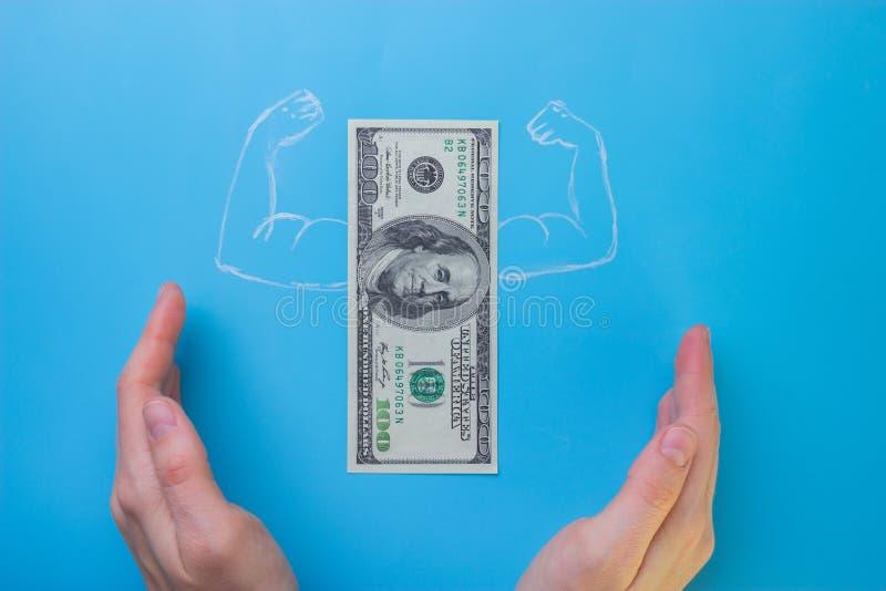 Dólares de conta com músculos imagens de stock