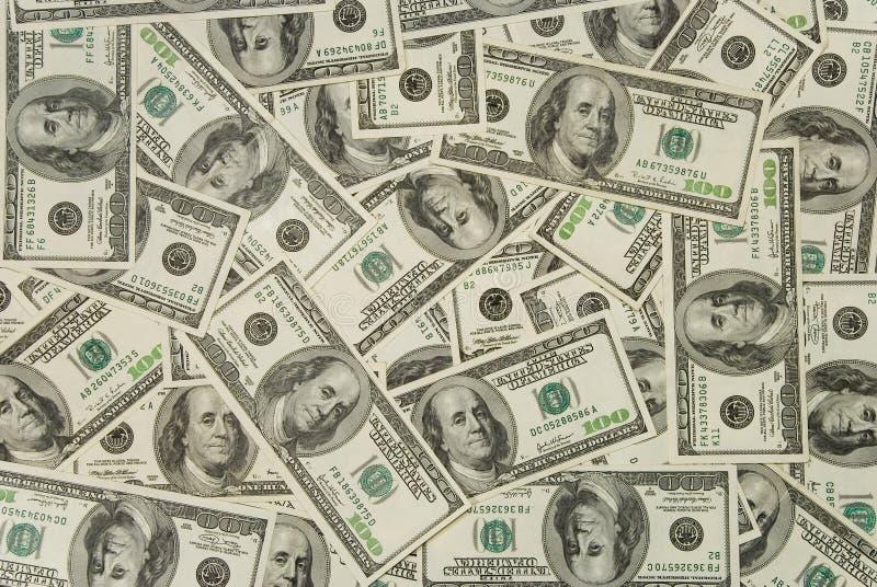 Dólares de fondo fotos de archivo