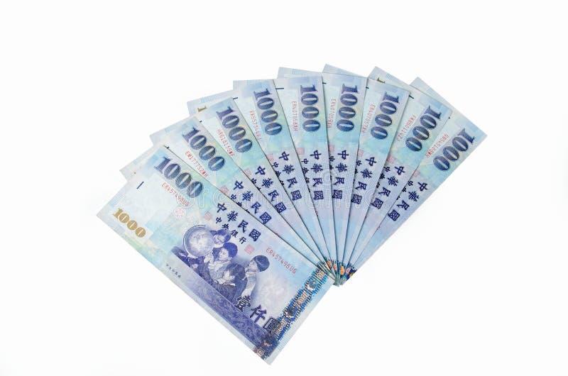 1000 dólares de nuevo Taiwán foto de archivo