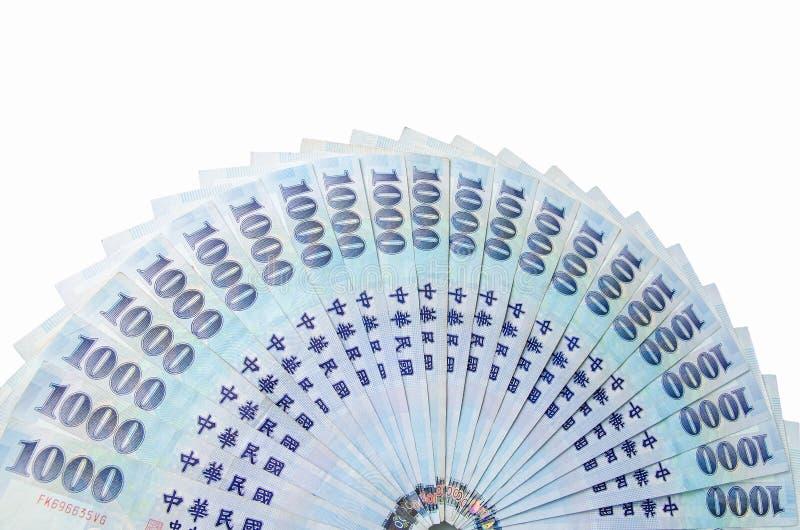 1000 dólares de nuevo Taiwán foto de archivo libre de regalías