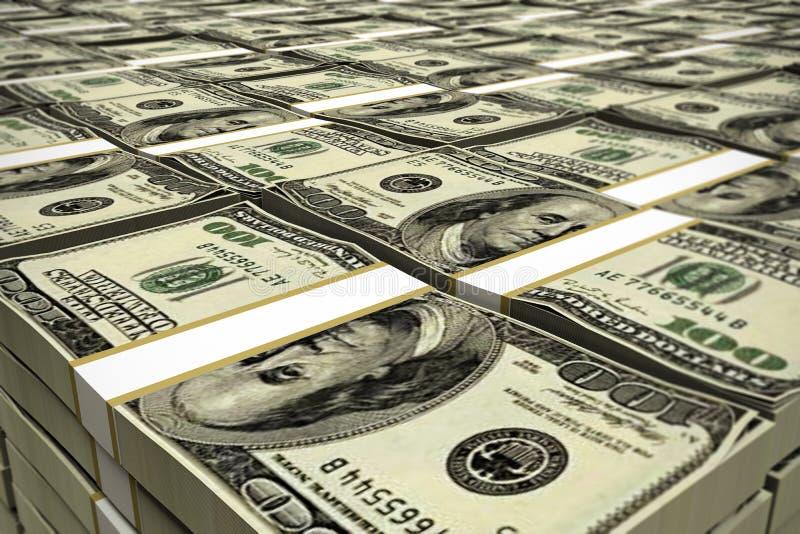 Dólares de pila ilustración del vector