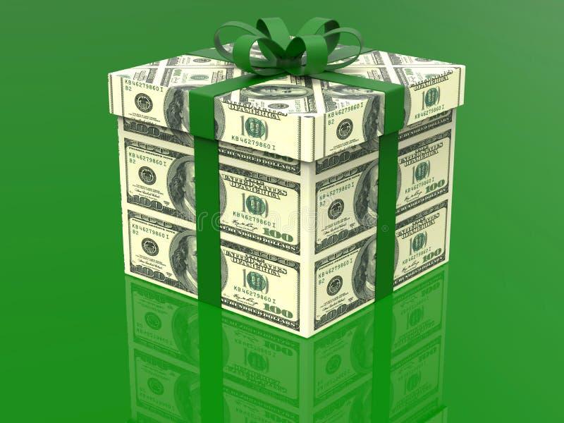 100 dólares de presente do dinheiro ilustração stock
