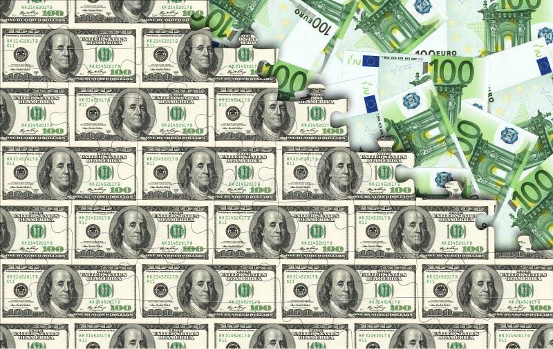 Dólares de rompecabezas fotos de archivo libres de regalías