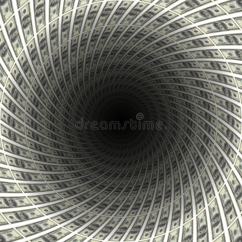 Dólares de túnel ilustración del vector