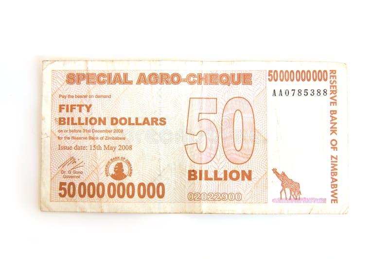 Dólares de Zimbabwe imagens de stock